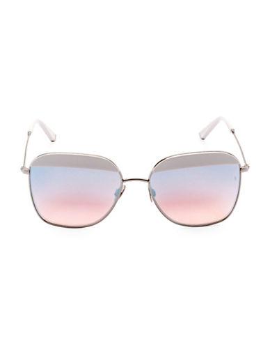 Sunday Somewhere Off The Radar Vito 57mm Aviator Sunglasses-WHITE-One Size