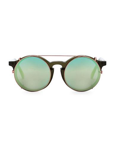 Sunday Somewhere Off The Radar Matahari 50mm Round Sunglasses-GREEN-One Size