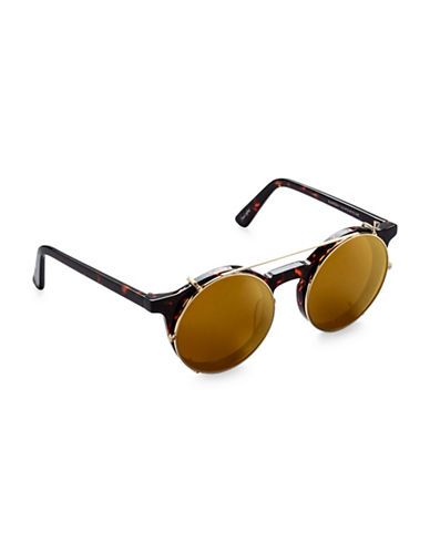 Sunday Somewhere Off The Radar Lorenzo 50mm Round Sunglasses-BROWN-One Size