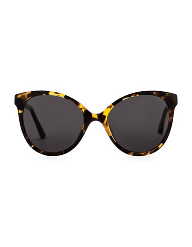 Sunday Somewhere Lily 55mm Round Sunglasses-TORTOISE-One Size