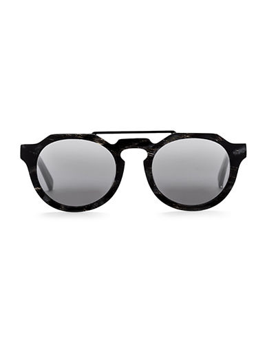 Sunday Somewhere Heeyeh 51MM Round Marble-Look Sunglasses-BLACK-One Size