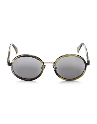 Sunday Somewhere Ned 50MM Round Frame Sunglasses-BROWN-One Size