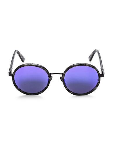 Sunday Somewhere Ned 50MM Round Frame Sunglasses-PURPLE-One Size