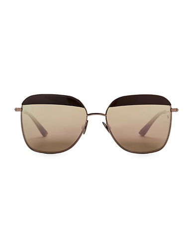 Sunday Somewhere Off The Radar Vito 57mm Aviator Sunglasses-BRONZE-One Size
