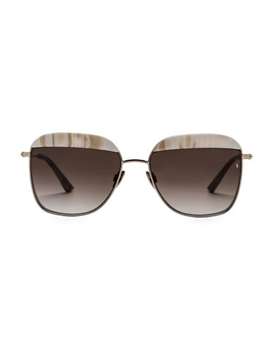 Sunday Somewhere Off The Radar Vito 57mm Aviator Sunglasses-SAND-One Size