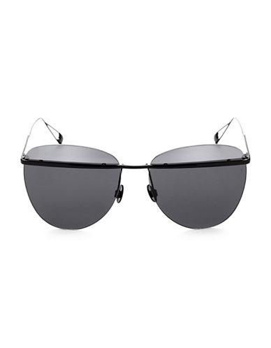Sunday Somewhere Tallulah 58MM Rounded Wayfarer Sunglasses-BLACK-One Size