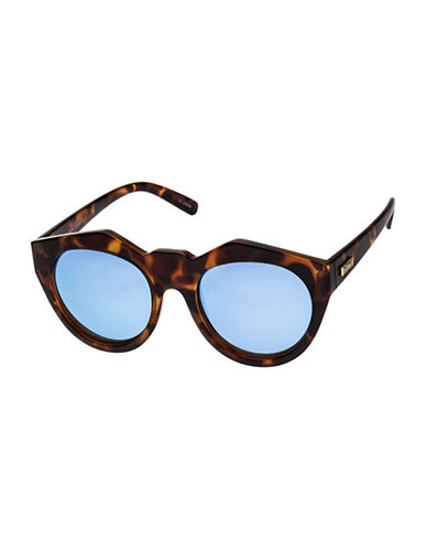 Le Specs Neo Noir 53mm Cat-Eye Sunglasses-MILKY TORTOISE/BLUE-One Size