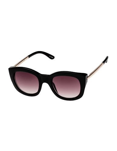 Le Specs Runaways Luxe 50mm Square Sunglasses-BLACK-One Size