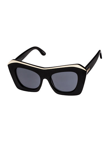 Le Specs Villain 47mm Cat-Eye Sunglasses-BLACK-One Size
