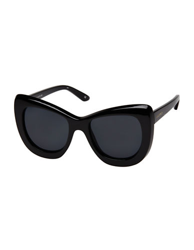 Le Specs Queenie 51mm Cat-Eye Sunglasses-BLACK-One Size
