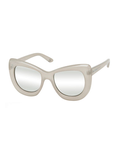 Le Specs Queenie 51mm Cat-Eye Sunglasses-ECRU/SILVER-One Size