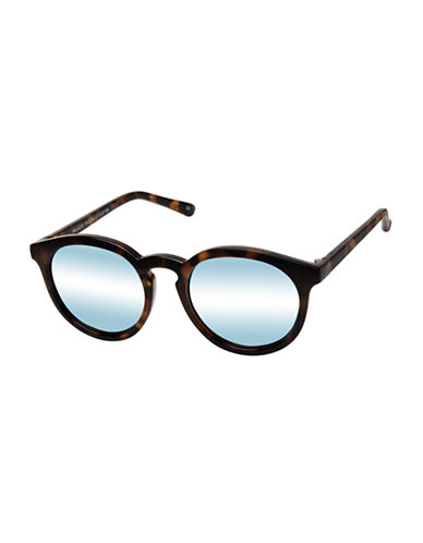 Le Specs Palazzo 51mm Round Sunglasses-TORTOISE/BLUE-One Size