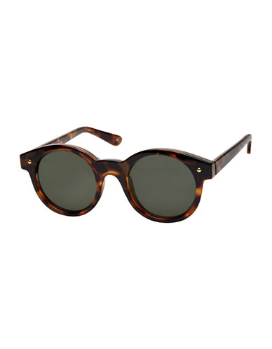 Le Specs Chateau 49mm Round Sunglasses-TORTOISE-One Size