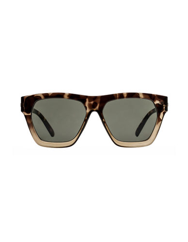 Le Specs New Wave 55mm Wayfarer Sunglasses-KHAKI-One Size