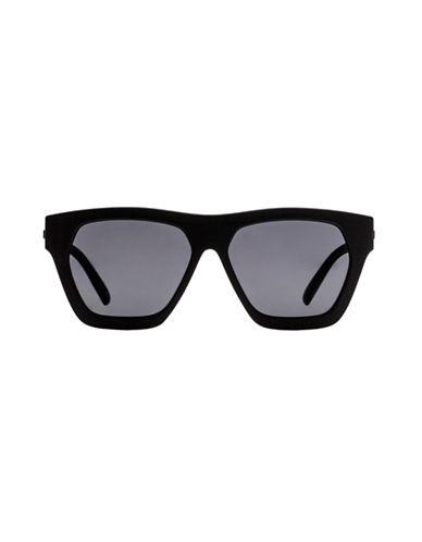 Le Specs New Wave 55mm Wayfarer Sunglasses-BLACK RUBBER (POLARIZED)-One Size