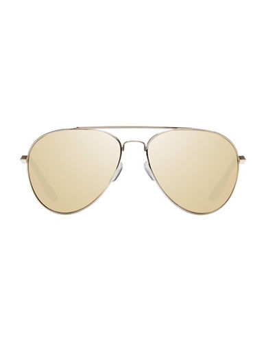 Le Specs Drop Top 60mm Aviator Sunglasses-GOLD-One Size