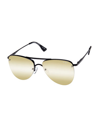 Le Specs The Prince 57mm Aviator Sunglasses-GOLD-One Size