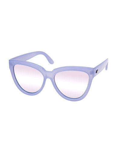 Le Specs Liar Liar 57mm Oversized Cat-Eye Sunglasses-LILAC-One Size