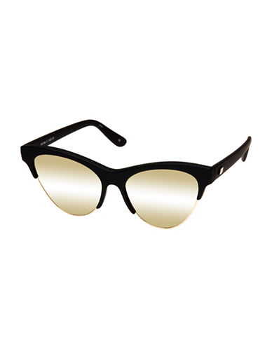 Le Specs Kin Ink 55mm Cat-Eye Sunglasses-BLACK/GOLD-One Size