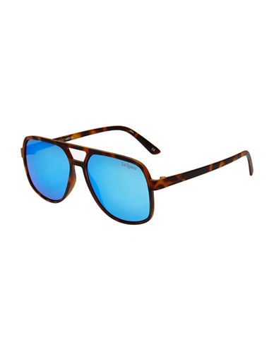 Le Specs Cousteau 58mm Square Aviator Sunglasses-BLUE-One Size
