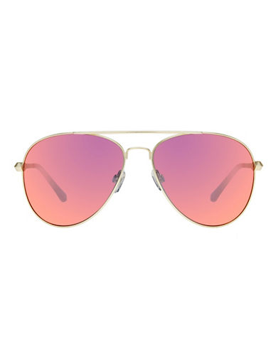 Le Specs Drop Top 60mm Aviator Sunglasses-RED-One Size