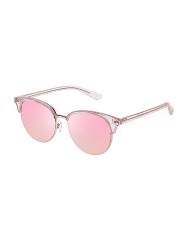 Le Specs Deja Vu LTD 51mm Clubmaster Sunglasses-PINK-One Size