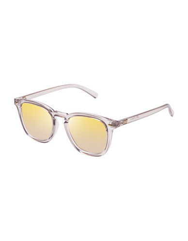 Le Specs No Biggie LTD 49mm Square Sunglasses-GOLD-One Size