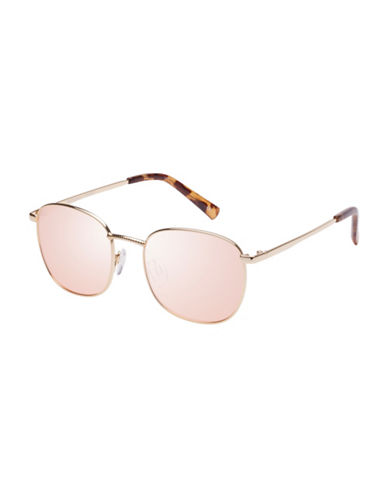 Le Specs Neptune 49mm Aviator Sunglasses-GOLD-One Size