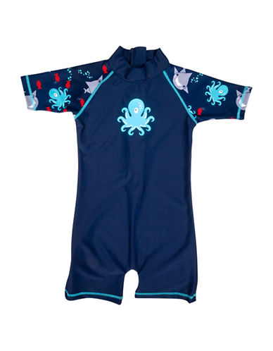 Banz One-Piece Monster Swimsuit-BLUE-18-24 Months
