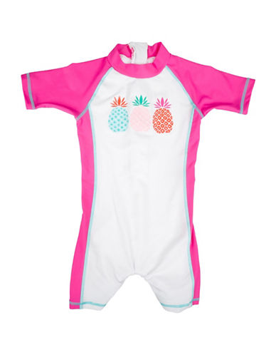 Banz Pineapple-Print One-Piece Swimsuit-PINK-12-18 Months