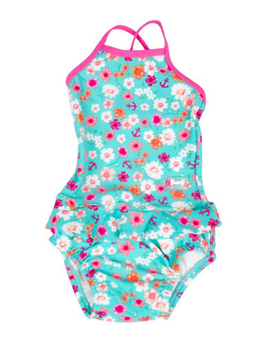 Banz One-Piece Mixed-Print Swimsuit-BLUE-6