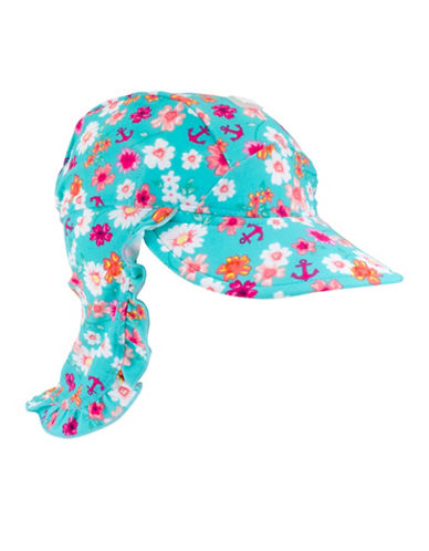 Banz Floral Flap Hat-PINK-Medium