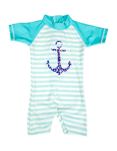 Banz One-Piece Anchor Swimsuit-BLUE-18-24 Months