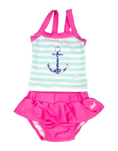 Banz Two-Piece Striped Anchor Tank and Swim Skirt Set-BLUE-0-6 Months