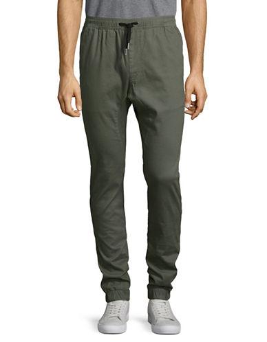 Zanerobe Drawstring Jogger Twill Pants-GREEN-30
