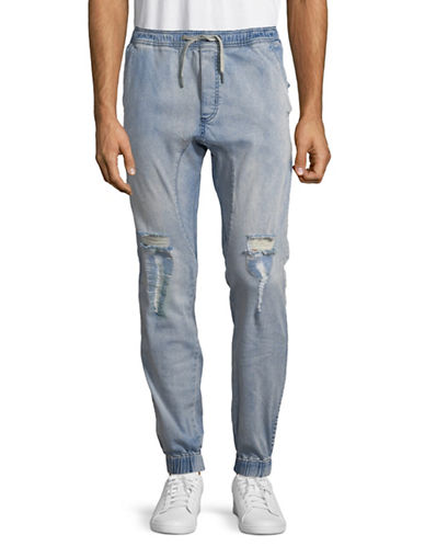 Zanerobe Sureshot Denim Jogger Pants-BLUE-30