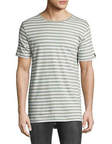 Zanerobe Striped Flintlock Tee-GREEN-X-Large