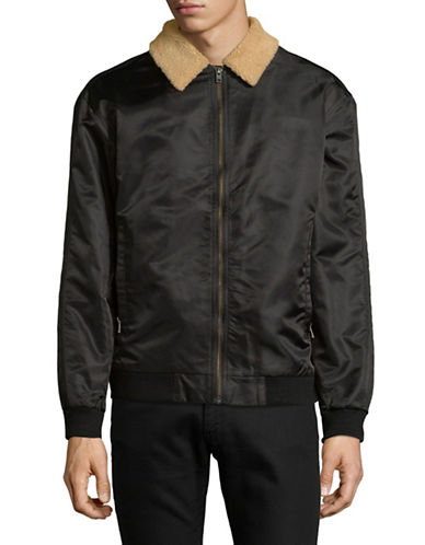 Zanerobe Plush Collared Jacket-BLACK-Medium
