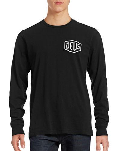 Deus Double Sided Logo T-Shirt-BLACK-Small 88726134_BLACK_Small