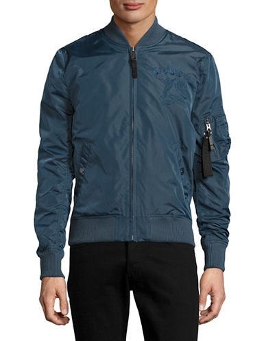Deus Embroidered Bomber Jacket-BLUE-Large 89096857_BLUE_Large