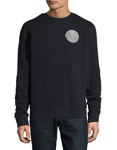 Deus Long Sleeve Warrior Crew Sweatshirt-BLACK-Medium 89096892_BLACK_Medium