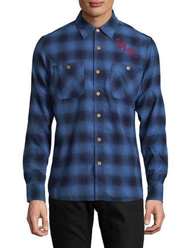 Deus Service Flannel Check Sport Shirt-BLUE-Small