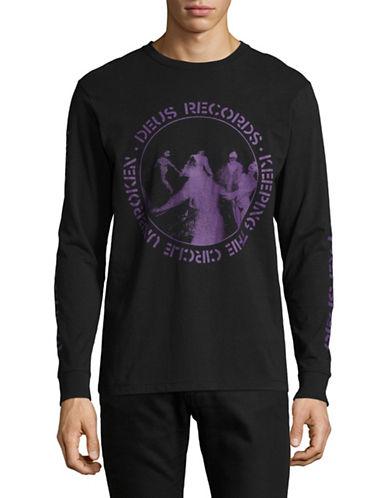Deus Graphic Cotton Long Sleeve T-Shirt-BLACK-Small