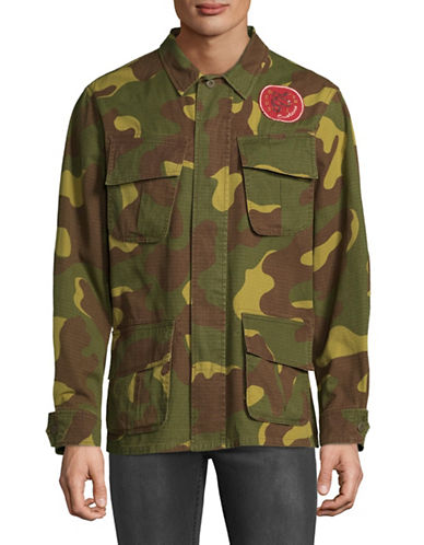 Deus Travis Camo Cotton Overshirt-GREEN-Small