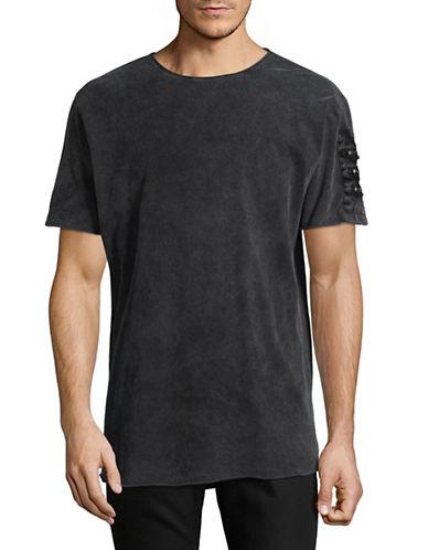 Nana Judy Zipper Cotton T-Shirt-BLACK-Large