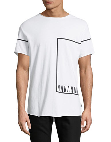 Nana Judy Nana Lines Cotton Tee-WHITE-Small