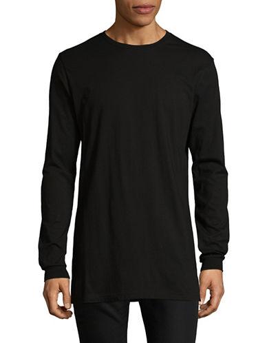 Nana Judy Basic Cotton Shirt-BLACK-Small