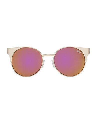 Quay Australia Asha 150mm Cat-Eye Sunglasses-GOLD-One Size