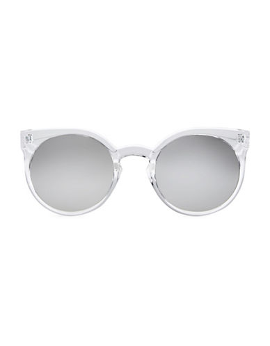 Quay Australia Kosa 135mm Cat Eye Sunglasses-WHITE-One Size