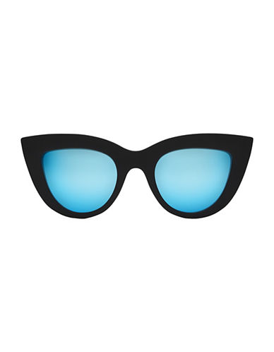 Quay Australia Kitti 145mm Cat Eye Sunglasses-BLUE-One Size